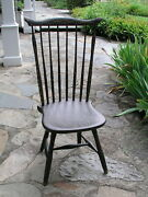 Antique Fan Back Windsor Folk Art Painted Chair..circa 1800and039s All Original