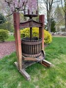 Antique Wine/fruit Press - Authentic Early 20th Century Stenciled