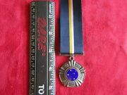 South African Military Southern Cross Medal Full Size Serial Number And Silver