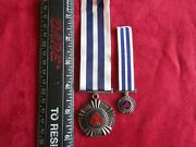 South African Military Pro Merito Medal Full Size And Miniature Serial Numbered