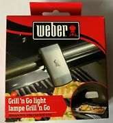 Genuine Weber Bbq Barbeque Grill 'n Go Led Light Lamp Round Handle Mount New