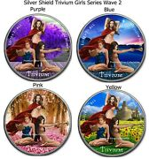 2021 Usa Trivium Silver Shield 3 Girls Series 2 - Silver Colorized Series