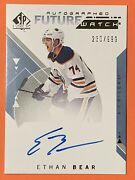 2018-19 Sp Authentic Future Watch Ethan Bear Auto Rc 230/999 Card166