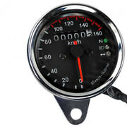 12v Motorcycle Led Dual Odometer Tachometer Pc Speedometers