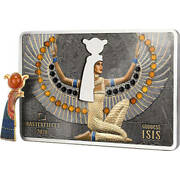 Goddess Isis Masterpieces 200 G Silver And 10 G Gold Coin Solomon Islands 2020