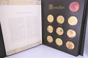 Franklin Mint 24k Gold On Sterling Silver 38 Shakespeare Medals 1.25oz Each