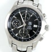 Tag Heuer Link Chrono Cjf2110 Date Black 200m Stainless Japan Automatic-winding
