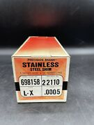 Precision Brand 22110 Stainless Steel Shim Stock Gauge .0005 Size 6 X 50