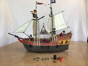Playmobil Huge Pirate Set With 2 Ships, Ghosts, Giant Manta And Crab Retired Rare