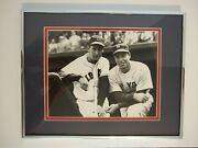 Ted Williams And Joe Dimaggio Fenway Park 1951 - Framed Matted Photo