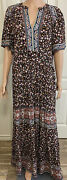 Knox Rose Womanandrsquos Maxi Dress Xs Floral Mixed Print Multicolor Black New