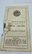 Old Booklet Directions Dazey Butter Churn Instruction Manual Advertising Daisy