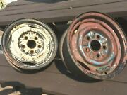 2 1960and039s Ford Falcon 13 X 4-1/2 5 Bolt On 4-1/2 B.c. Steel Wheel