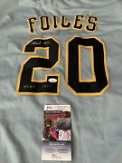 Hank Foiles Autographed/signed Jersey Jsa Coa Pittsburgh Pirates