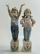 Lot Of 2 Lladro Special Olympics Figurines 5872 Special Pride And 5871 Champion