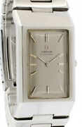 Omega Deville Automatic Silver Dial Rectangle Menand039s Watch Rare