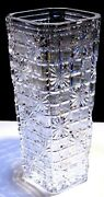 Vintage Waterford Crystal Master Cutter 14 Square Vase Made In Ireland