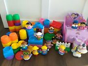 Little People Fisher Price Lot Park Princess Carriage Figures Stacking Blocks
