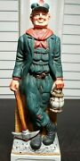 Vintage Old Time Coal Miner Commonwealth Distillery Decanter 2 Excellent Condit