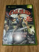 Evil Dead A Fistful Of Boomstick Xbox 2003 Mint Complete Still Sealed