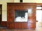 1880and039s Antique Built-in Cabinet School Chalkboard Victorian Style Fir Ornate