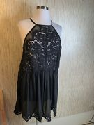 Torrid Black Floral Lace Top Sleeveless Stretch Plus Size 4x Coverup Nighty