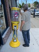 Giant Gumball Machine Yellow Coin Op Large Bargain Price Rare Money Maker