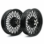 16x3.5 Fat Spoke Wheels Rims Set For Harley Sportster 1200 Forty Eight Xl1200x