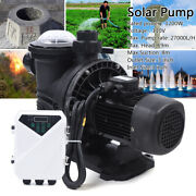 1200w 110v Dc Solar Water Pump Swimming Spa Pool Pump Motor With Mttp Controller