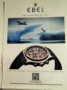 Ebel Luxe Watches / Hennessy Vs Cognac Original  Vtg 1998 Ad,
