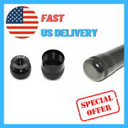 Maglite Flashlight D Or C Black Cell Cap Set 1/2-28 Aluminum End For Replacement