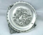 1880 Pairpoint Quadruple Aesthetic Footed Star Fish Shell And Coral Pastry Stand