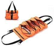 Super Tool Roll, Large Wrench Roll, Big Tool Roll Up Bag, Waxed Canvas Orange