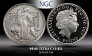 2007 Great Britain Britannia And Lion 1 Pound Ngc Pf69 Ultra Cameo Finest Known