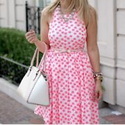 J. Crew Neon Pink Floral Embroidered Dress Size 10