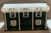 1950's Plasticville Hoscale Colonial House No. 2401 Green And White