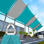 Turquoise 15 Ft Heavy Duty Steel Wire Cable Sun Shade Sail Canopy Patio Pool