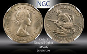 1962 New Zealand 1 Schilling Ngc Ms 66 Only 3 Graded Higher