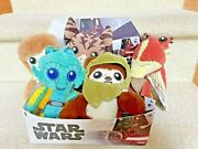 New Star Wars Galaxy's Edge Trading Outpost Target Plush Set Of 5 + Display Box