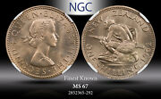 1962 New Zealand 1 Schilling Ngc Ms 67 Finest Known