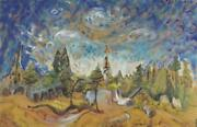Emily Carr Friend Of Group Of Seven Stumps And Sky Gallery Wrapped Canvas 24x36