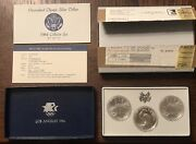 1984 Uncirculated Olympic Silver Dollars 3 Coin Collectors Set Original Packing