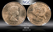 1964 New Zealand 1 Schilling Ngc Ms 66 Only 4 Graded Higher