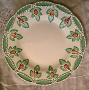 10 Mystery Pattern Wedgewood Majolica Style Luncheon Plates 1930's