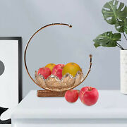 Decorative Fruit Bowl With Metal Stand Table Centerpieces Dessert Plate