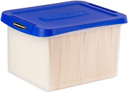 Bankers Box Heavy Duty Plastic File Box With Hanging Rails, Letter/legal, 1 Pack
