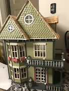 """Victorian Dollhouse Miniature Toy Wood 112 Scale 30"""" Tall X 24"""" Wide"""