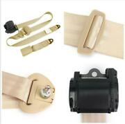 High Strength Polyester 3 Point Beige Safety Seat Belt For Car Driver Front Seat
