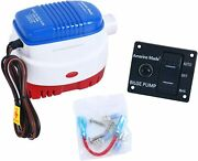 12v 1100gph Automatic Submersible Boat Bilge Water Pump Auto Pump And Switch Panel
