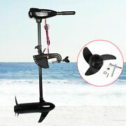 80lbs 800w Electric Outboard Motor Thrust Motor Boat Engine Propeller 12v Usa